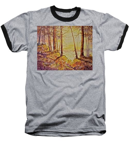 Baseball T-Shirt featuring the painting Autumn Glow by Carolyn Rosenberger