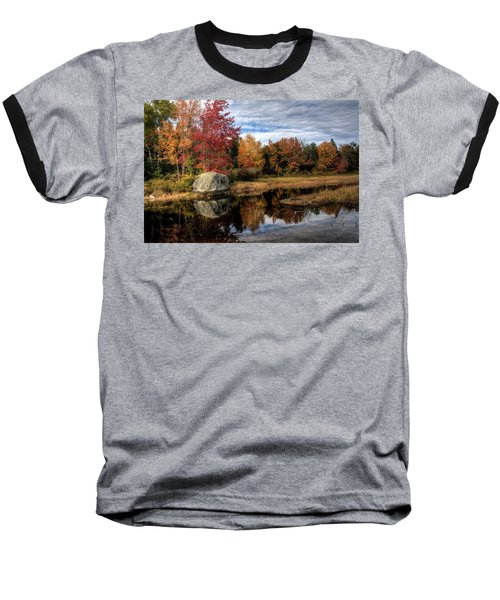 Autumn In Maine Baseball T-Shirt by Greg DeBeck