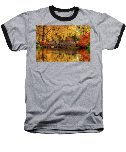 Autumn In The Park Baseball T-Shirt by Teri Virbickis