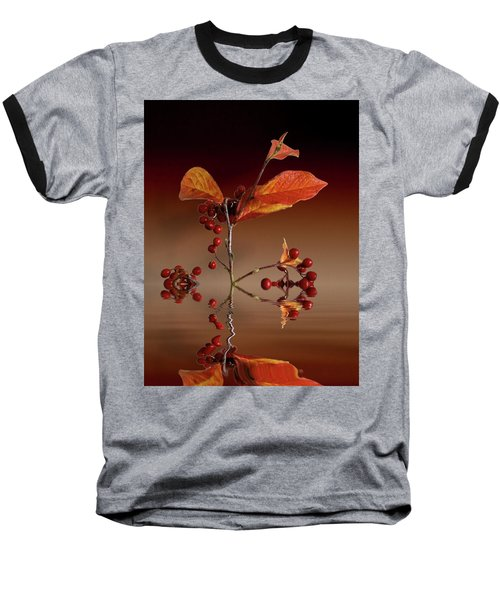 Baseball T-Shirt featuring the photograph Autumn Leafs And Red Berries by David French