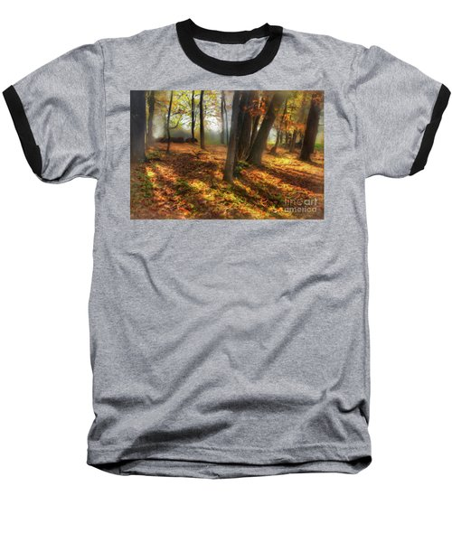 Autumn Shadows In The Blue Ridge Ap Baseball T-Shirt
