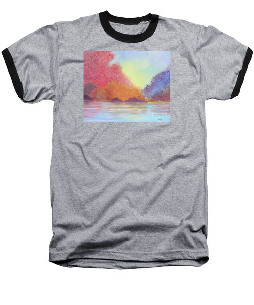 Baseball T-Shirt featuring the painting Autumn's Aura by Stacey Zimmerman