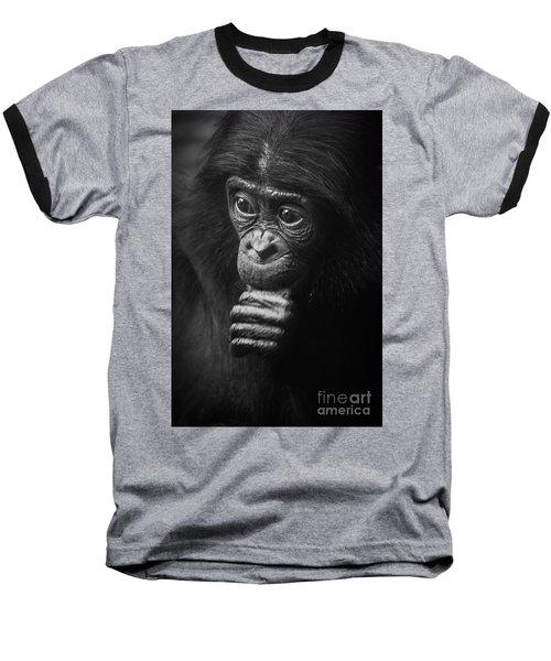 Baseball T-Shirt featuring the photograph Baby Bonobo Portrait by Helga Koehrer-Wagner