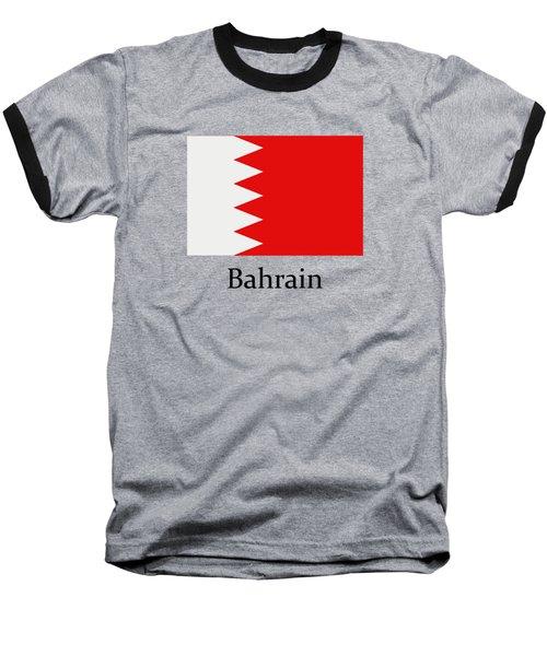 Bahrain Flag Baseball T-Shirt