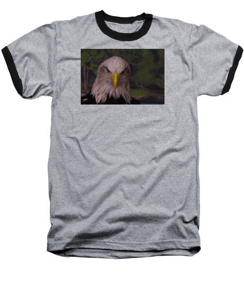 Baseball T-Shirt featuring the photograph Bald Eagle by Steven Clipperton
