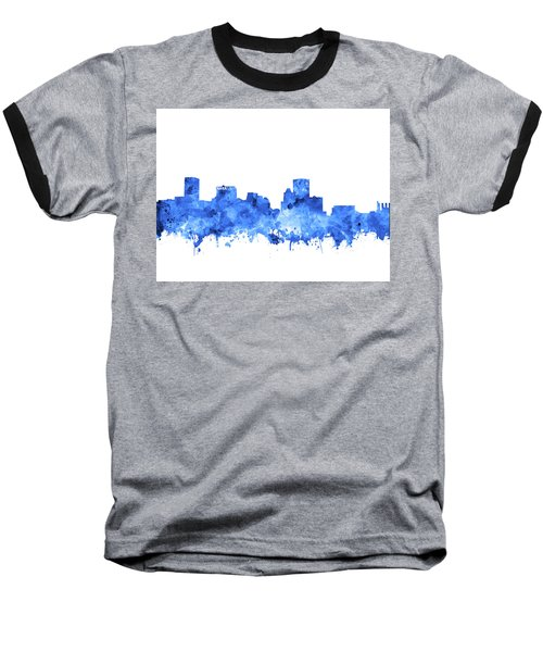 Baseball T-Shirt featuring the painting Baltimore Skyline Watercolor 7 by Bekim Art