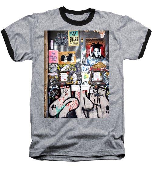 Barcelona Street Art Baseball T-Shirt