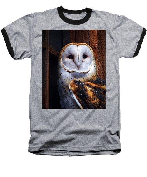 Barn Owl  Baseball T-Shirt by Anthony Jones