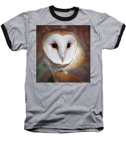 Barn Owl Baseball T-Shirt by Elaine Malott