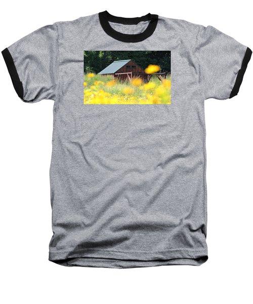 Barn Stony Brook New York Baseball T-Shirt by Bob Savage