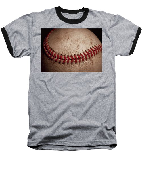 Baseball T-Shirt featuring the photograph Baseball Seams by David Patterson