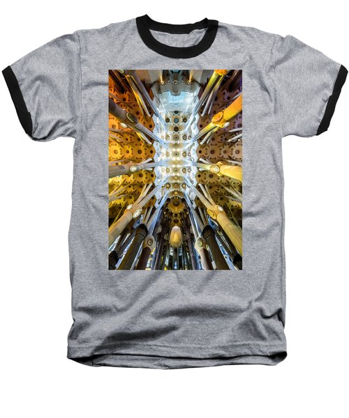 Basilica De La Sagrada Familia Baseball T-Shirt by Randy Scherkenbach