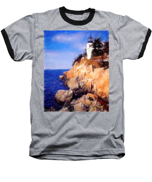 Bass Harbor Lighthouse,acadia Nat. Park Maine. Baseball T-Shirt