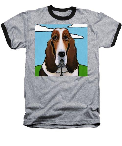Basset Hound Baseball T-Shirt by Leanne Wilkes