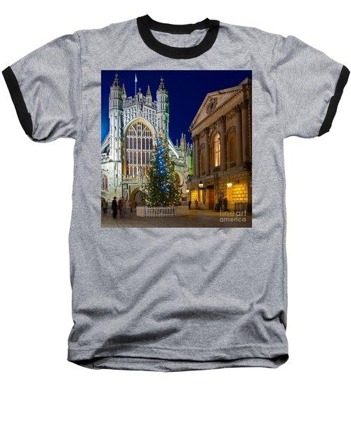 Bath Abbey At Night At Christmas Baseball T-Shirt