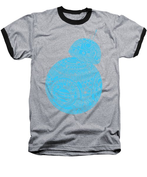 Bb8 Droid - Star Wars Art, Blue Baseball T-Shirt