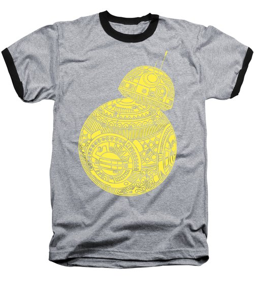 Bb8 Droid - Star Wars Art, Yellow Baseball T-Shirt