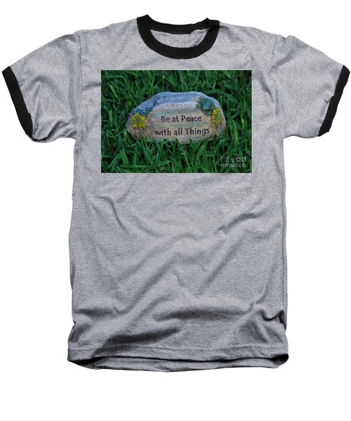 Baseball T-Shirt featuring the photograph 1- Be At Peace by Joseph Keane