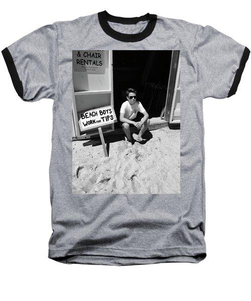 Beach Boys Work For Tips Baseball T-Shirt