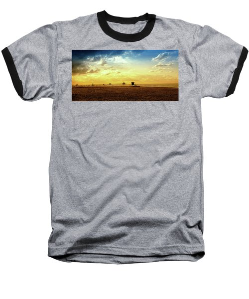 Beach Pier Baseball T-Shirt