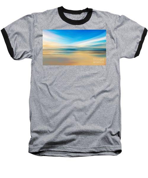 Baseball T-Shirt featuring the digital art Beach Sunrise by Anthony Fishburne