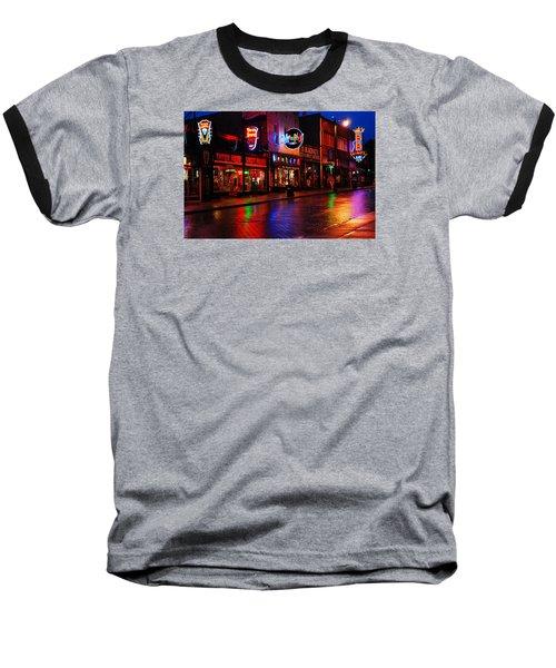 Baseball T-Shirt featuring the photograph Beale Street Memphis by James Kirkikis