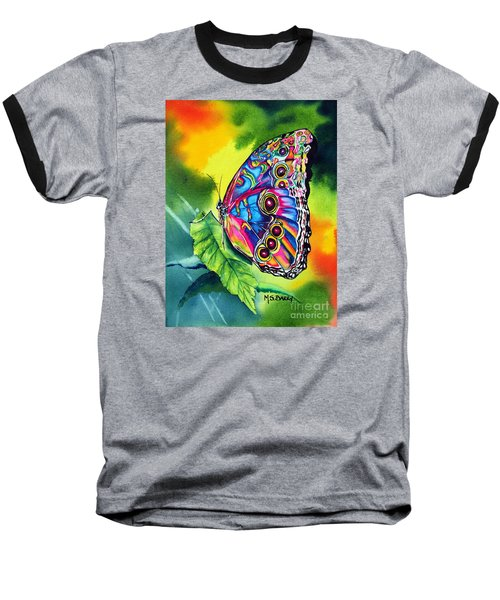 Baseball T-Shirt featuring the painting Beatrice Butterfly by Maria Barry