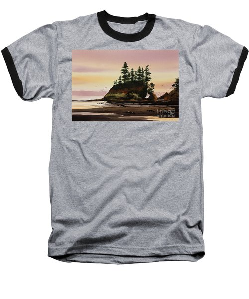 Baseball T-Shirt featuring the painting Beautiful Shore by James Williamson