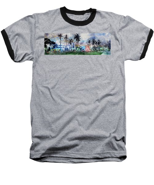 Beautiful South Beach Baseball T-Shirt by Jon Neidert