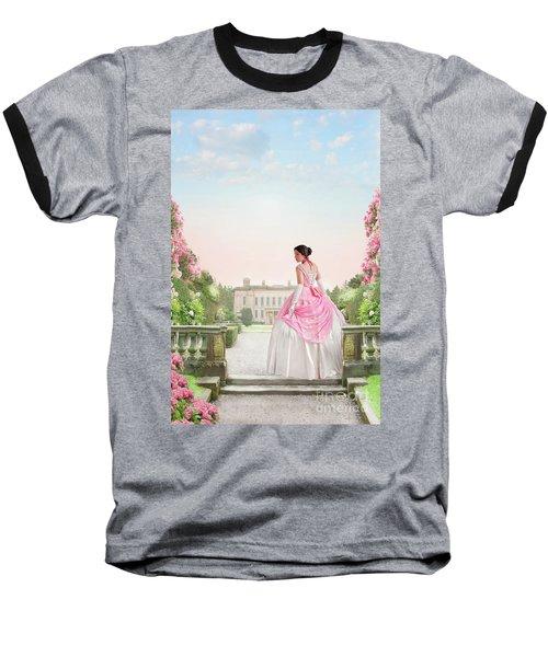 Beautiful Victorian Woman In The Garden Baseball T-Shirt