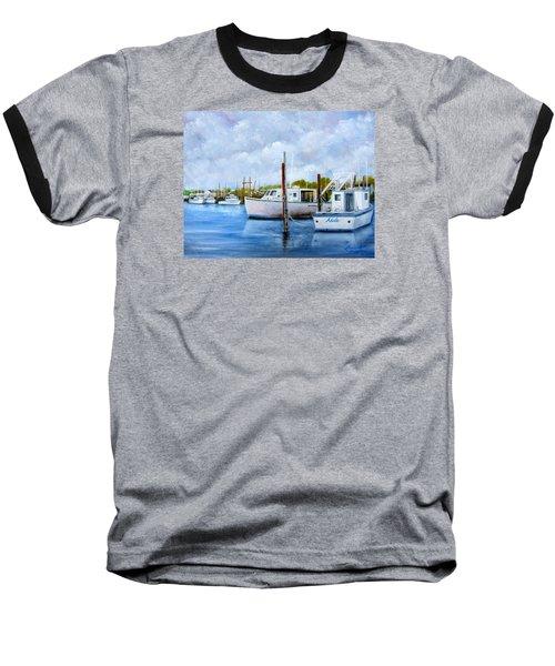 Belford Nj Fishing Port Baseball T-Shirt