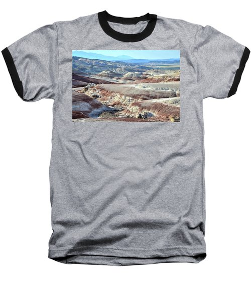 Bentonite Clay Dunes In Cathedral Valley Baseball T-Shirt by Ray Mathis