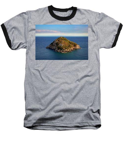 Bergeggi Island Baseball T-Shirt