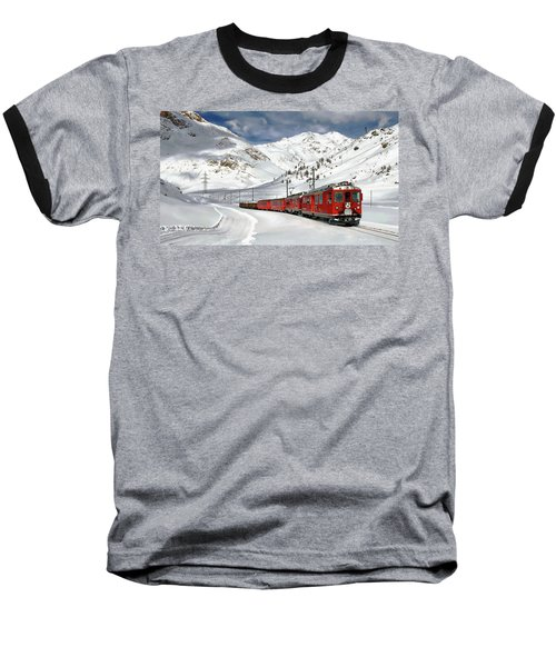 Bernina Winter Express Baseball T-Shirt