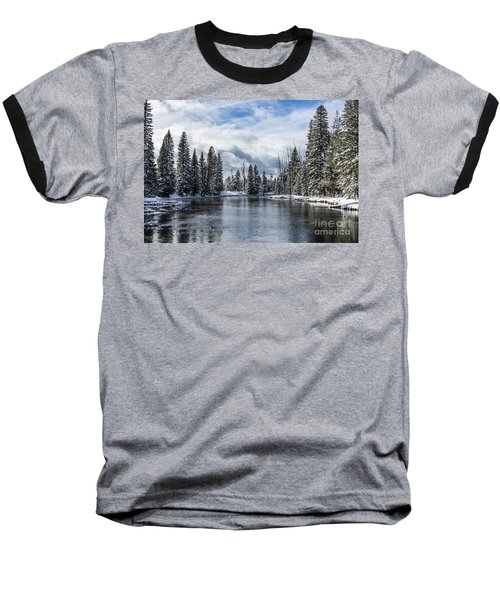 Big Springs In Winter Idaho Journey Landscape Photography By Kaylyn Franks Baseball T-Shirt