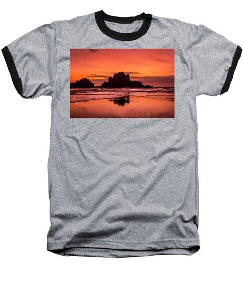 Big Sur Sunset Baseball T-Shirt