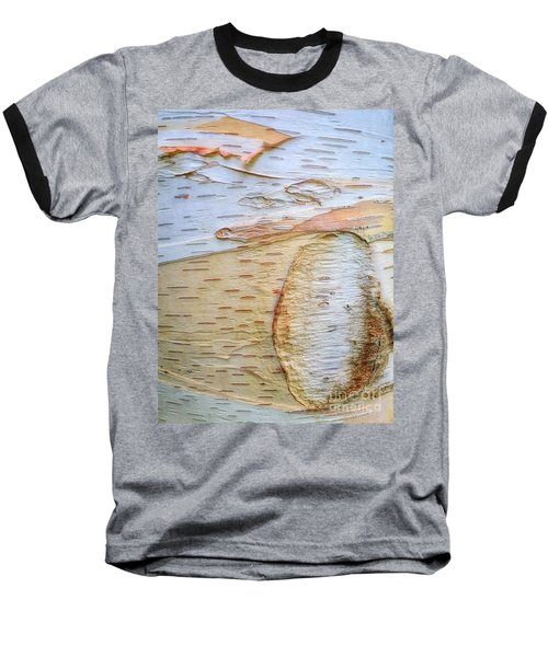 Birch Tree Bark Baseball T-Shirt