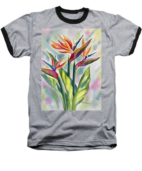 Bird Of Paradise Flowers Baseball T-Shirt