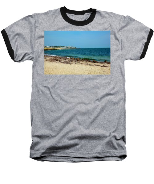 Baseball T-Shirt featuring the photograph Birds On The Beach by Madeline Ellis