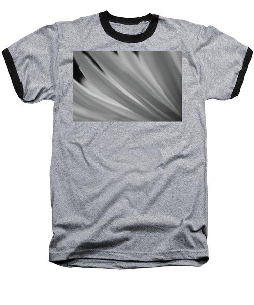 Black And White Mum Petals Baseball T-Shirt