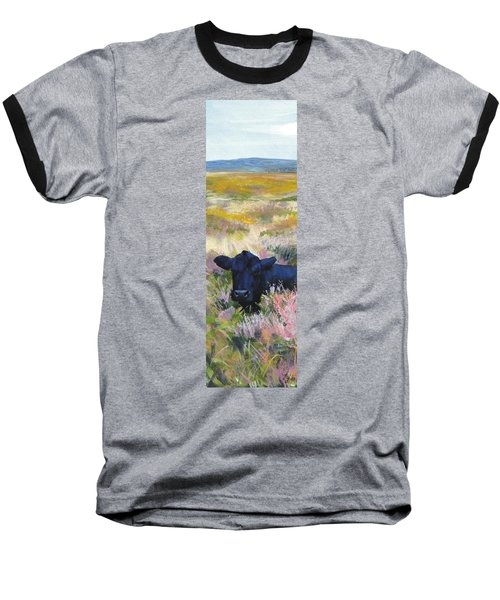 Black Cow Dartmoor Baseball T-Shirt