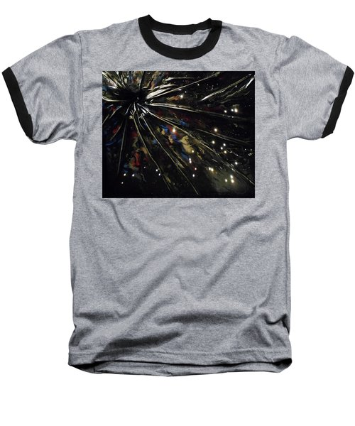 Baseball T-Shirt featuring the mixed media Black Hole by Angela Stout