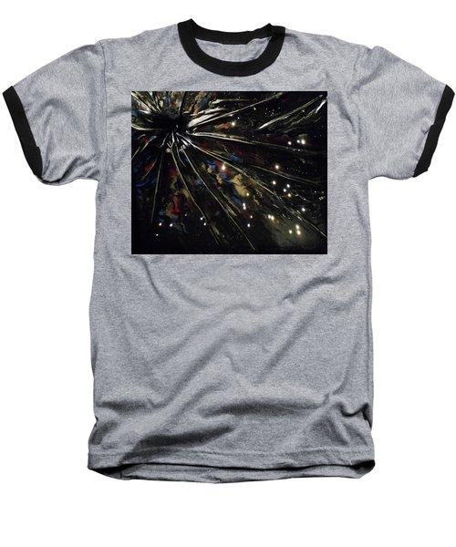 Black Hole Baseball T-Shirt by Angela Stout