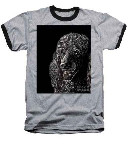 Black Standard Poodle Baseball T-Shirt