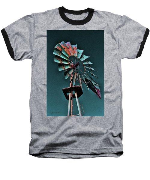 Blades Baseball T-Shirt by Sylvia Thornton