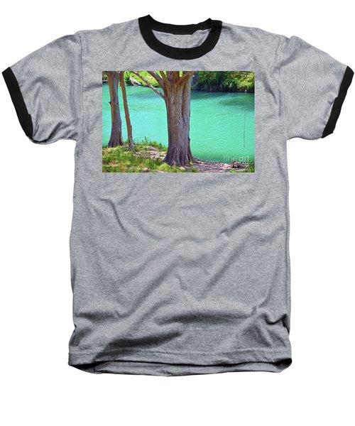 Blanco River Texas Baseball T-Shirt by Ray Shrewsberry