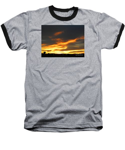 Blazing Carolina Sunset Baseball T-Shirt