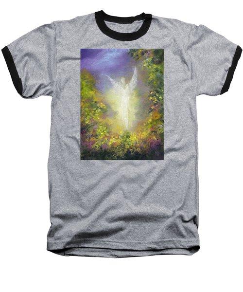 Blessing Angel Baseball T-Shirt by Marina Petro