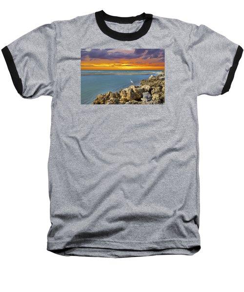Blind Pass Sunset Baseball T-Shirt by Sean Allen