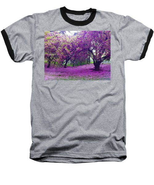 Blossoms In Central Park Baseball T-Shirt